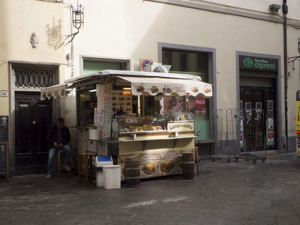 Lampredottaio, piazza dei Cimatori