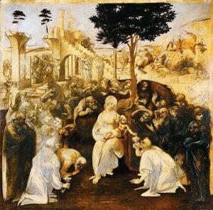 Leonardo, Adoration of the Magi, 1481