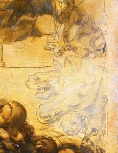 Leonardo da Vinci, Adoration of the Magi, detail, 1481