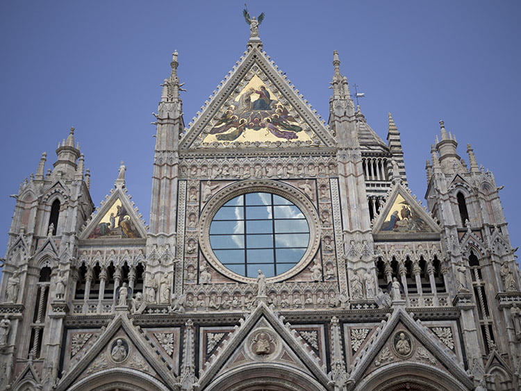 Façade of the Sienese Cathedral