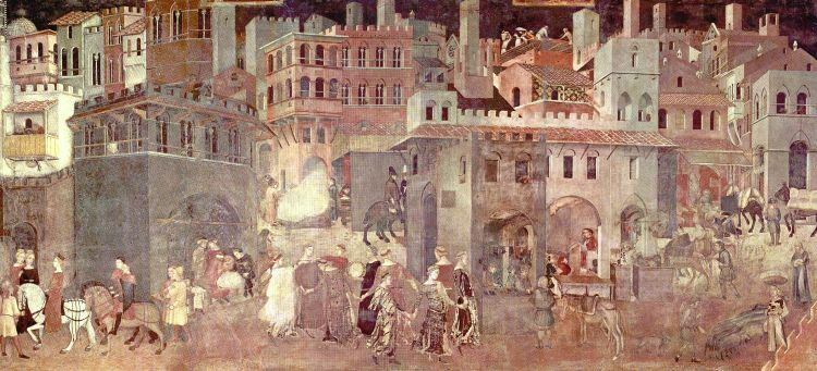 Ambrogio Lorenzetti, The Consequences of a Good Government,