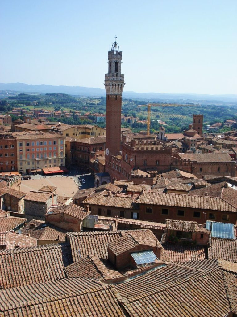 "The view on Siena from the ""facciatone"""