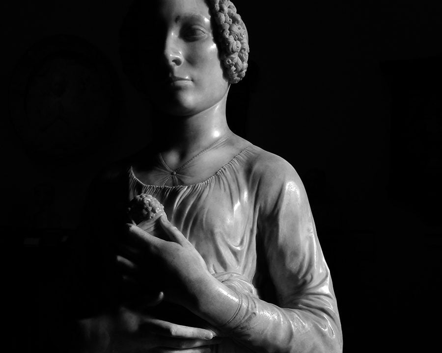 Andrea del Verrocchio, Lady with Flowers