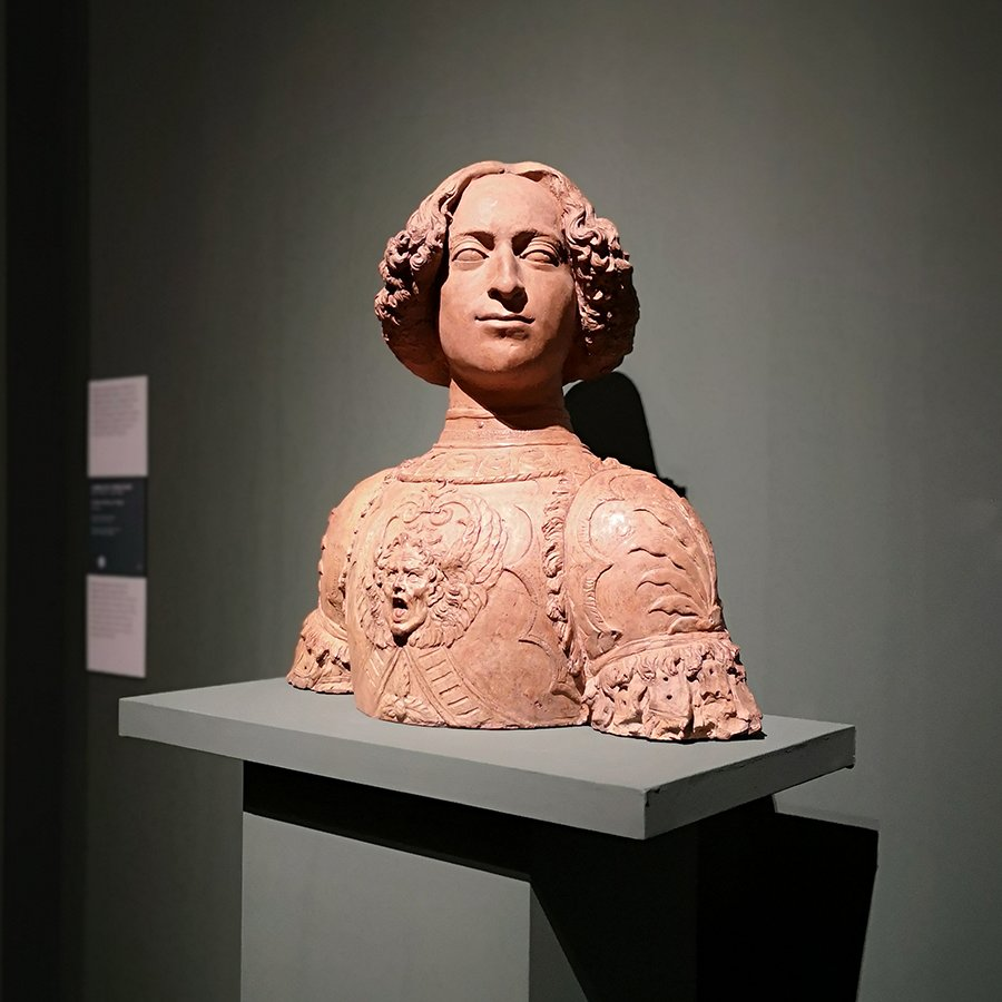 Andrea del Verrocchio, Busto de Giuliano de' Medici, ca. 1475.