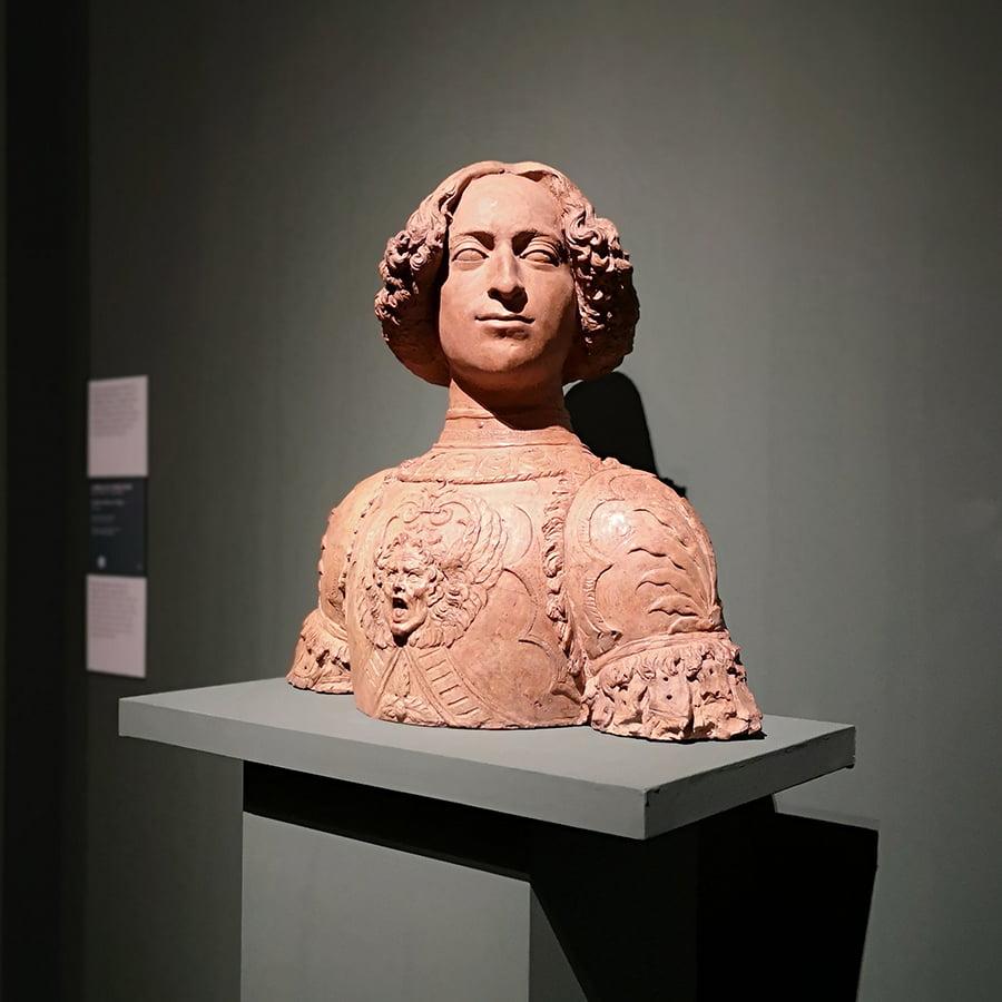 Andrea del Verrocchio, Bust of Giuliano de' Medici, ca. 1475.