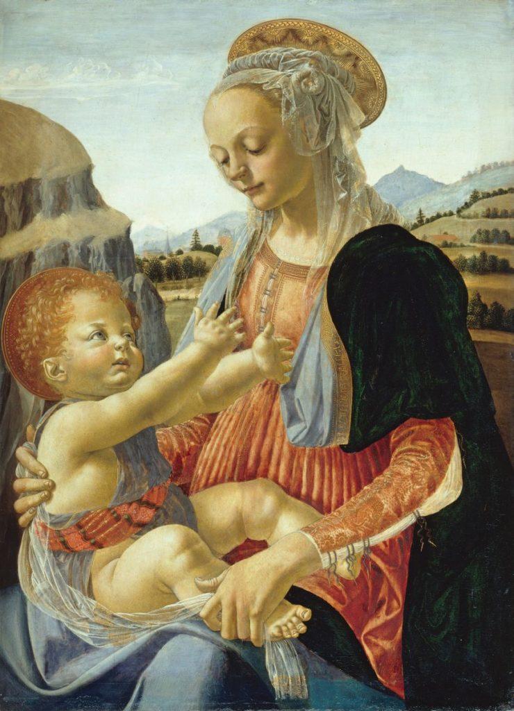 Andrea del Verrocchio, Virgen con el niño 1470 ó 1475.