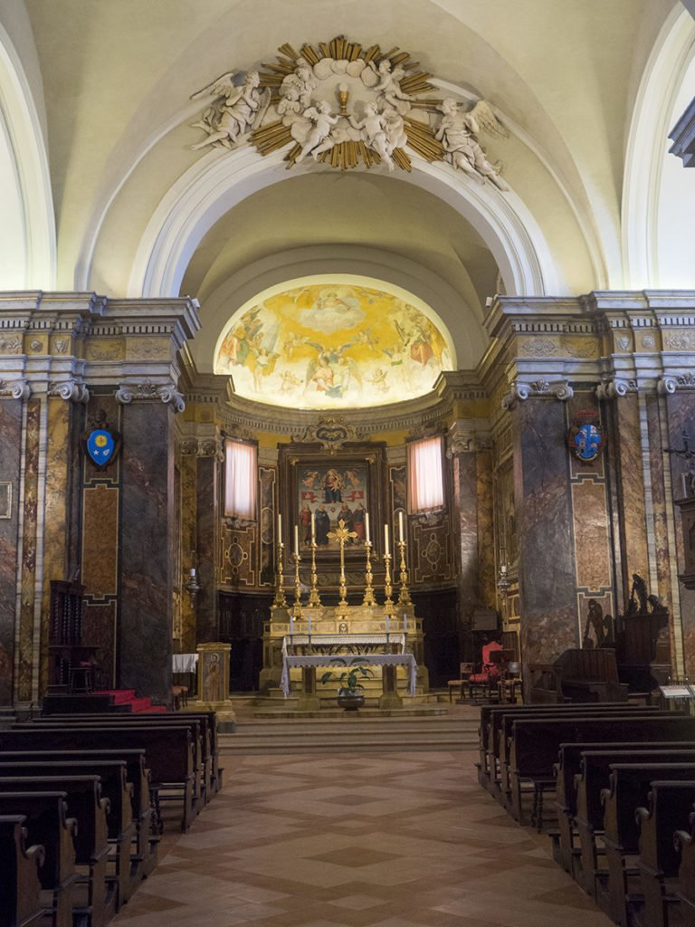 Cathedral in Città della Pieve, Umbria, Italy