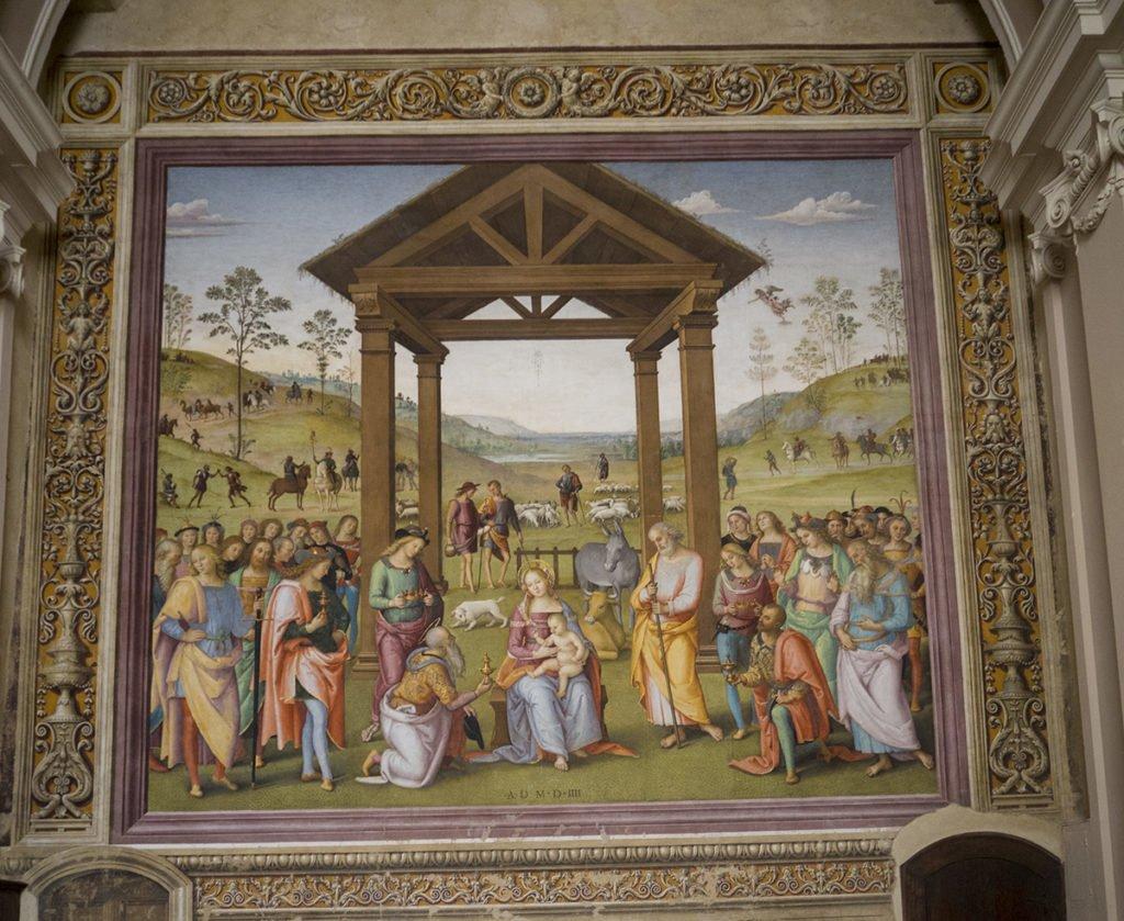 Pietro Perugino, Adoration of the Magi, Città della Pieve.
