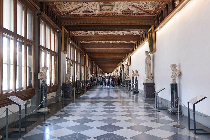 Corridor of the Uffizi Gallery