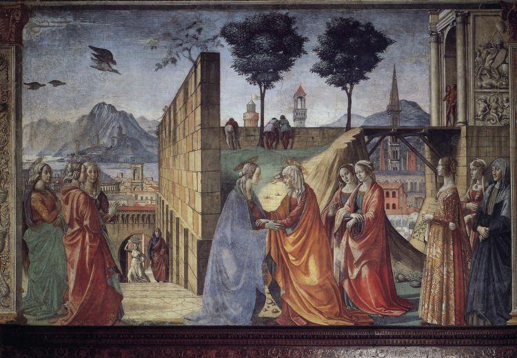 Domenico Ghirlandaio, Visitation, Tornabuoni Chapel