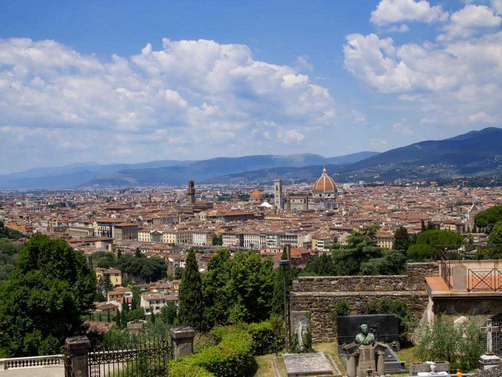 View on Florence from Monte alle Croci.