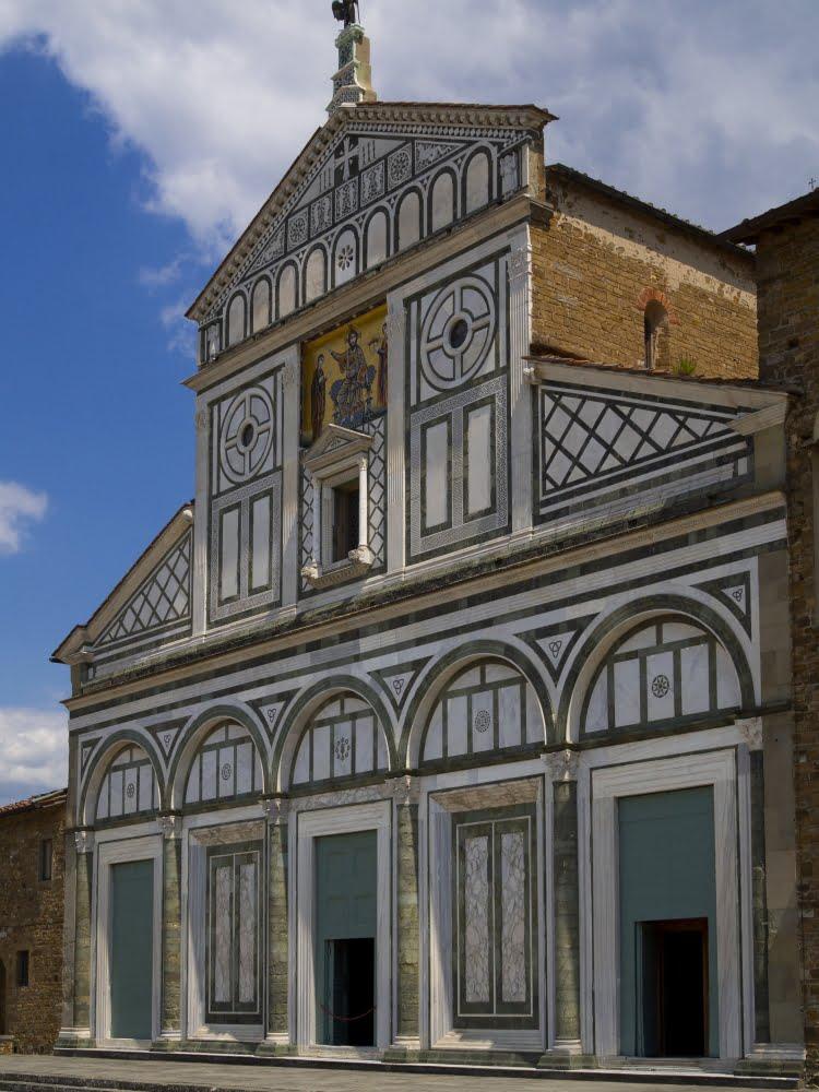 San Miniato al Monte, Florence, facade.