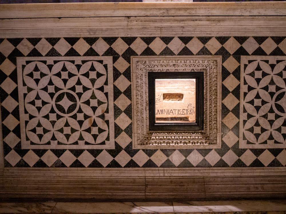 San Miniato al Monte, Florence. The relics of Saint Miniato.