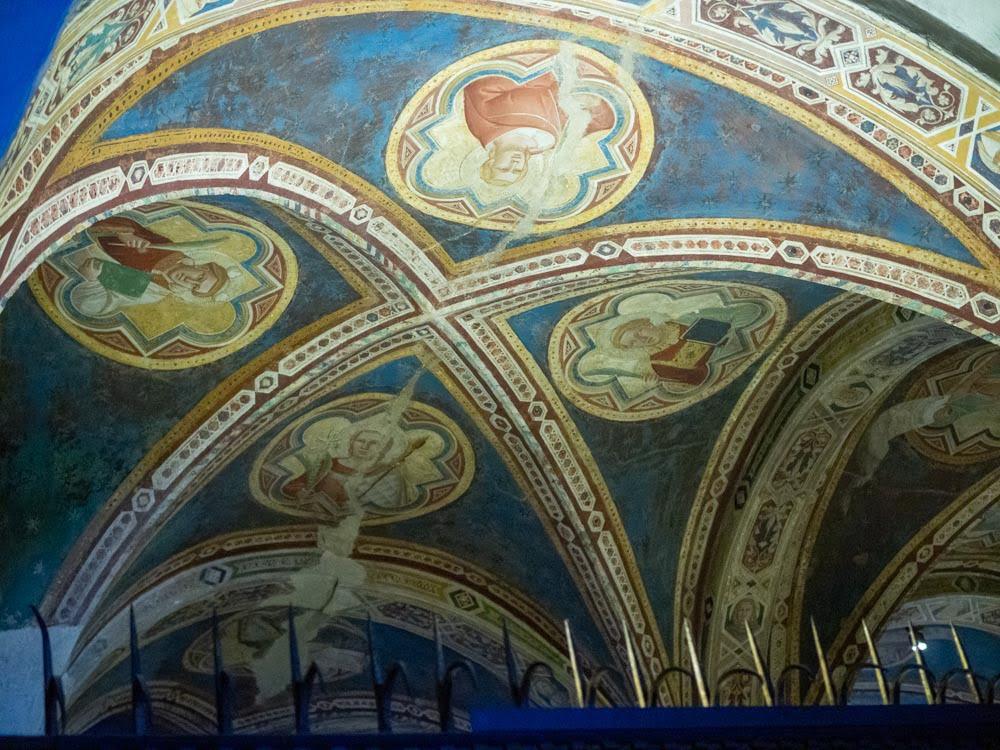 Taddeo Gaddi, Saints and Martyrs, fresco painting, 1342, San Miniato al Monte, Florence.