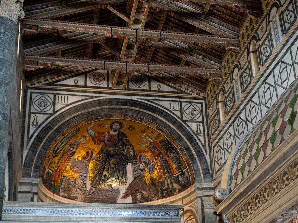 San Miniato al Monte, florence, mosaic in the apse, 13th century.